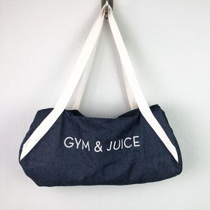 Private Party Gym & Juice Denim Duffle Bag